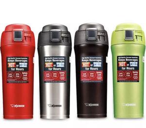 ZOJIRUSHI One Touch Stainless Steel Vacuum Water Bottle Mug 0.48L