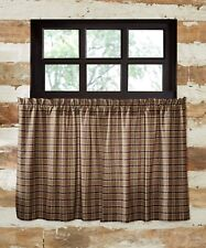 WYATT Tier Set Rustic Cabin Lodge Woodland Hunting Plaid Khaki/Green Lined 36""