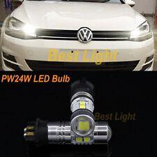 2x White PW24W LED Daytime Running Light DRL Bulb For VW Golf MK7 Golf7 Golf VII