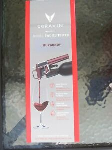 NEW Coravin Model Two Elite Pro Mist Wine Pouring System Burgundy