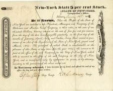 New York State bond signed by Comptroller William Learned Marcy (January 1828)