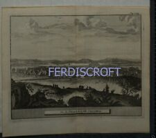 1727 Engraving View of Alloa, Scotland -Les Delices de la Grand Bretagne