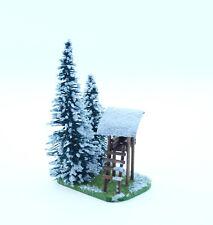 Jordan H0: Tannen-Motiv mit Hochsitz im Schnee (JO 21A) - NEU