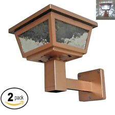 2 Pack Solar Post Cap Deck Fence Wall Mount LED Lights 4x4 5x5 6x6 Copper Color