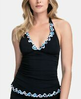 Profile by Gottex Pinwheel Halter Tankini Top  $88 Size 8 # U4 279 NEW