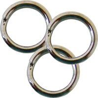 Owner Heavy Duty Stainless Steel Hyper Wire Split Ring #2 37 lb 16/Pack 5196-021