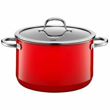 """Silit """"Passion High Casserole with Lid, Red, 24 cm"""
