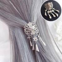 Women's Tassel Hair Clips Slide Flower Hairpin Pins Comb Hair Grips Accessories