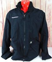 Carhartt Nylon Fleece Lined Jacket Mens Large Black Waterproof Work Coat Nice
