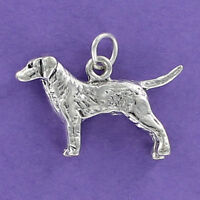 Retriever Dog Charm Sterling Silver for Bracelet Hunting Chesapeake Lab Hunt