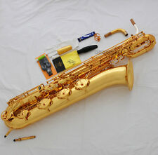 Professional TaiShan Support Baritone Saxophone Low A Key Eb Bari Sax With case