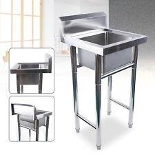 197 Wide Commercialhome Stainless Steel Floormount Kitchen Prep Sink Withdrain