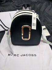Genuine Marc Jacobs Pack Shot Color-block Leather Backpack Black & Pink sales