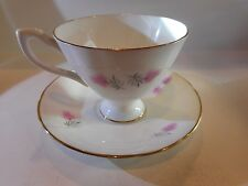 MADE IN ENGLAND CUP & SAUCER SET BONE CHINA W/CROWN MARK