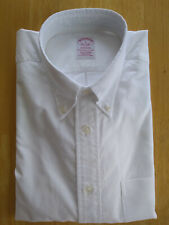 NWOT Brooks Brothers White Supima Oxford Button Down L 17-34.5 Madison MSRP $140