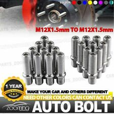 20pc M12x1.5 Extended Wheel Stud Conversion Tall Lug Bolts / Screw Adapter Kit