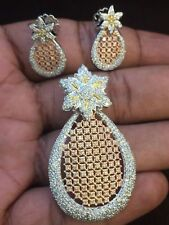 Stunning 3.90 Cts Round Brilliant Cut Diamonds Pendant Set In Certified 14K Gold
