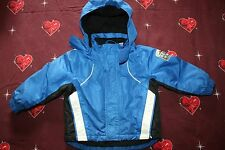 LUPILU Skijacke für Junge - Winterjacke - blau - Jacke Kapuze - Größe 86/92