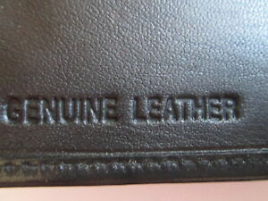 Genuine Credit Card Wallet with Note Section- Black- Sheep Nappa Leather -1181