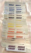 Absolut Vodka Reflective Folding Liquor Store Shelf Tags for Bottles (30 Total)