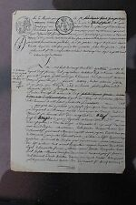 Antique français 1 page Manuscrit #2, 1822, signé, Restauration bourbonienne