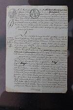 Antique français 1 page Manuscrit #2, 1822, signé, Restauration bourbonienne