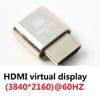 VGA Virtual Display Adapter HDMI 1.4 DDC EDID Dummy Plug Display Emulator Play