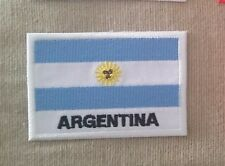 """""""ARGENTINA FLAG"""" Embroidered Patch Iron On ARGENTINIAN"""