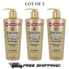 Jergens Natural Glow All Skin Tones Tan Extender Daily Moisturizer - Lot of 3