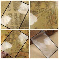 1Pcs A5 Flat PVC Magnifier Sheet X3 Book Page Magnifying Reading Glass Lens