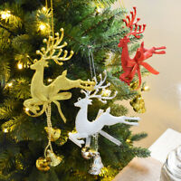 Christmas Tree Ornaments Xmas Hanging Reindeer Bell Pendant Gifts Decorations
