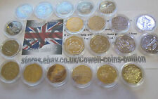 More details for various commemorative & regional 50p coins fifty pence unc - vf /plastic wallet