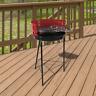 Barbecue Foyer Grill Table Patio Jardin Extérieur Log Brûleur Portable Acier