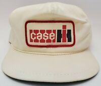 Vintage Patch Hat K Brand Strapback Case IH White Red Trucker Braid Golf Cap