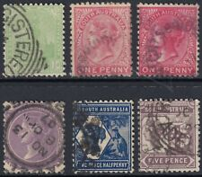 SOUTH AUSTRALIA  1905 - 1912  SET CROWN OVER A WATERMARK SG 293 - 297  GOOD USED