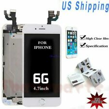For iPhone 6 LCD Screen Display Touch Digitizer+Front Camera&Button White NEW