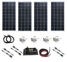 Sistema De Panel Solar De 100W 200W 300W 400W Módulo Solar Cargador Kit 12V 24V fuera Red