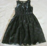 Banana Republic Womens Dress Size 2 Black Diamond Print Fit and Flare