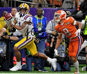 JA'MARR CHASE SIGNED PHOTO 8X10 RP AUTOGRAPHED LSU TIGERS FOOTBALL CHAMPIONSHIP
