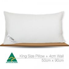 Aus Made KING SIZE Microfibre Pillow 90x50cm Altern to Feather/Duck Down/Hotel