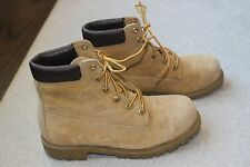 Mens Wolverine Suede Hiking Trail  Work Suede Steel Toe Boots Size 7.5 M Lace Up
