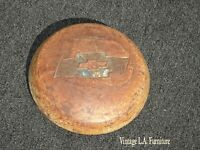 Vintage French Country Old Rusty Chevrolet Hubcap Picture Arts & Crafts Hub Cap
