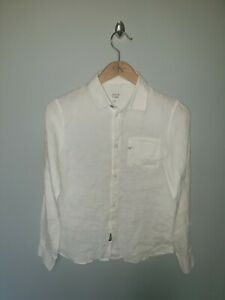 Boys ARMANI Regular Fit LINEN Button Up Shirt Age 12-13 Years