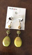 Teardrop Beaded Bling Earrings Nwt Style & Co. Lime Green