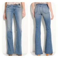 J Brand Vintage 70s Style High Waist Super Flare Jeans Bette in Icicle Sz 27