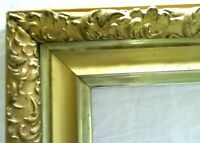 "Antique Fits 16x 20"" Lemon Gold Gilt Picture Frame Wood Gesso Ornate Fine Art"