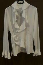 Camicia bianca NARA CAMICIE incrociata con volant