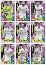 COMPLETE SET REAL MADRID 45 CARDS PANINI ADRENALYN XL LIGA 2016 2017