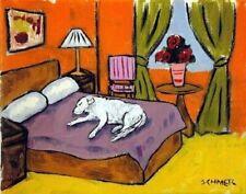 GREAT PYRENEES 13x19  dog art PRINT sleeping dog animals impressionism
