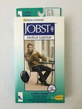 JOBST 113116 Men 20-30 mmHg Firm Casual Knee High Support Socks - Black / Small